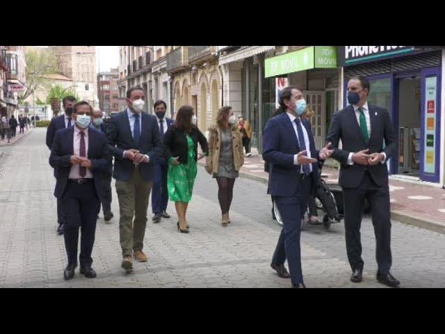 Imagenes del Presidente de la Junta Alfonso Fernández Mañueco en su visita a Medina del Campo