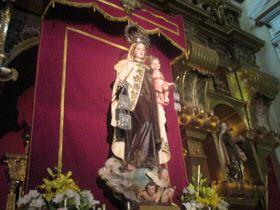 Imagen titular del Santuario de Nuestra Señora del Carmen.