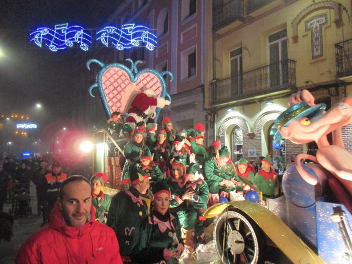 Pap? Noel desfilar? en las Navidades de Medina del Campo