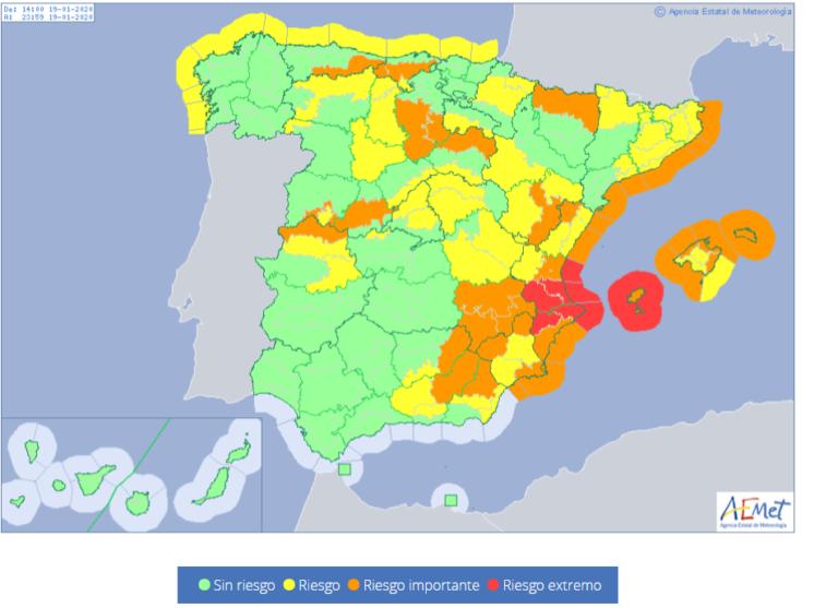 Descenso de temperaturas y alerta amarilla por fuertes vientos