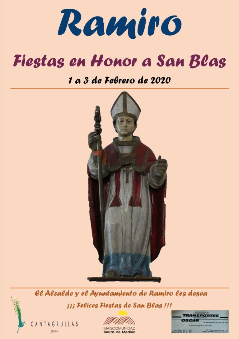 Llegan las Fiestas en Honor a San Blas en Ramiro, del 1 a 3 de Febrero de 2020