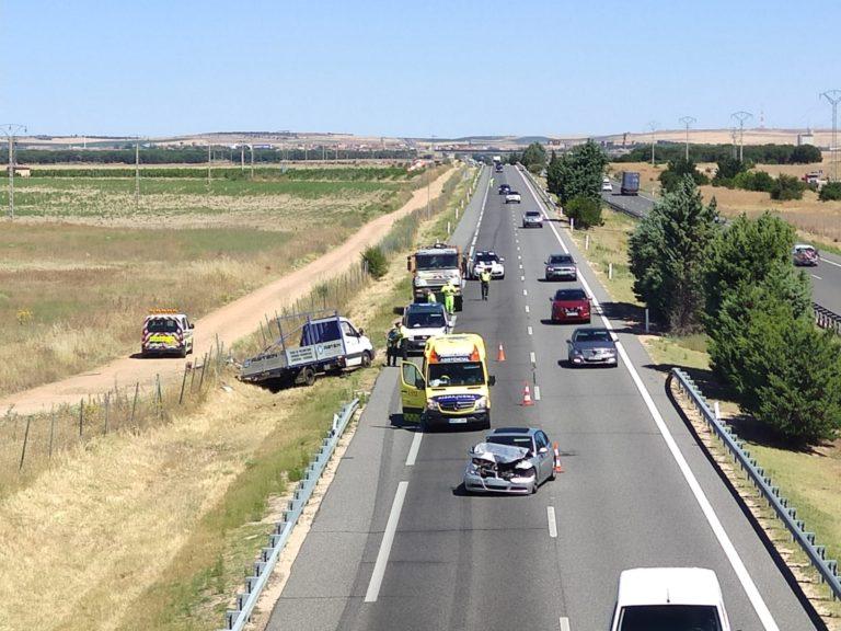 Medina del Campo: Accidente en la A-6 direcci?n Madrid