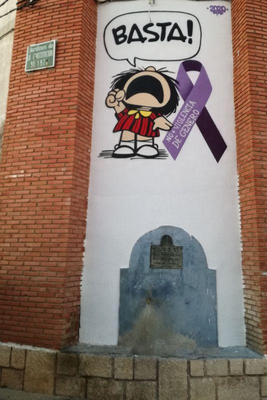 grafiti alaejos violencia de genero