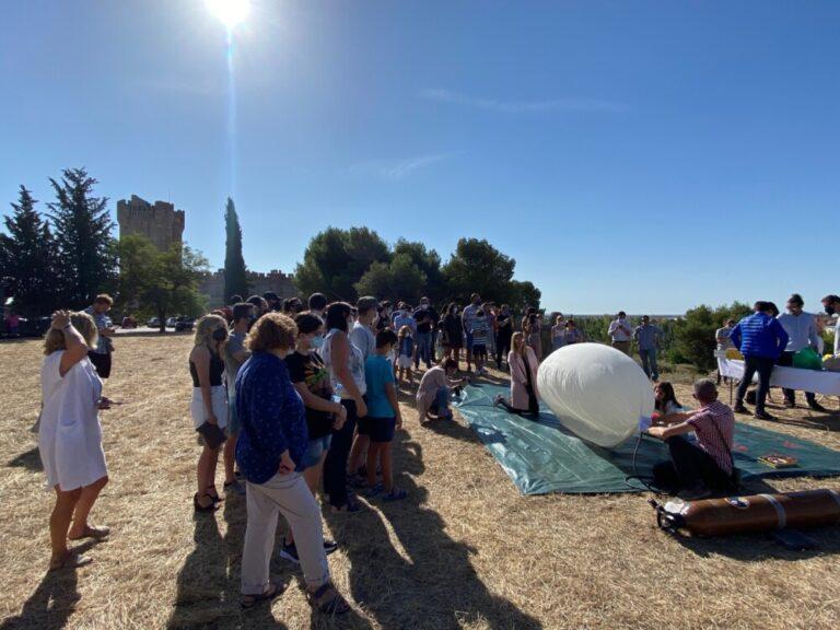 El Castillo de la Mota, escenario del lanzamiento de un globo meteorológico