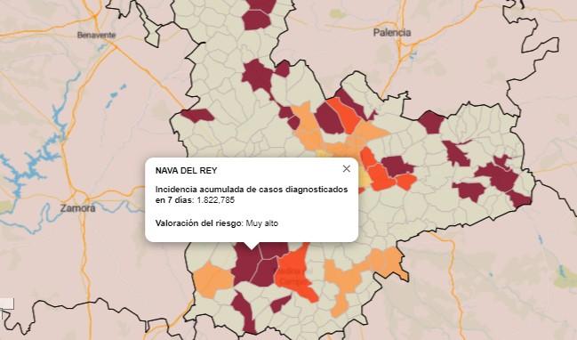 Solo quedan 5 pueblos de la Comarca de Medina con nivel de riesgo en 7 días «Muy Alto»