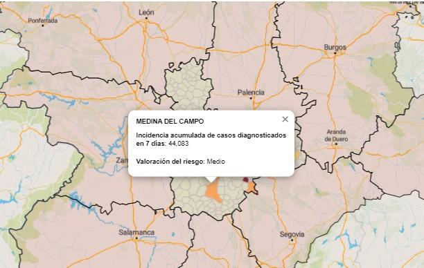 Covid-19 Medina del Campo: Baja a nueve los positivos de la última semana